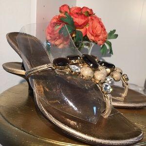 Giuseppe Zanotti Jeweled Gold Sandals